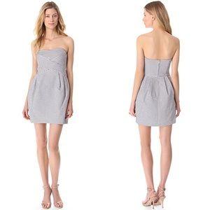 NWT Club Monaco Natasha Polka Dot Strapless Dress